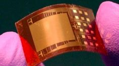 Nanogenerators look like tiny circuit boards and can generate electric current with a simple squeeze. Visual Cortex, Future Gadgets, Computer Chip, Body Movement, Mobile Learning, Gps Tracking, Nanotechnology, Circuit Board, Losing A Pet
