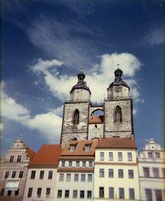 Lutherstadt Wittenberg met de Holga CFN 120 en Lomography CN 800 film.