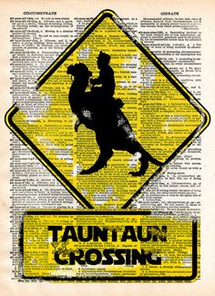 Tauntaun crossing, star wars print, retro starwars popart, dictionary page art