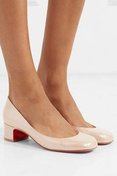 ccf366465a5 Christian Louboutin cadrilla 40 patent-leather pumps.  christianlouboutin   nudeshoes  pumps