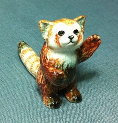 Hey, I found this really awesome Etsy listing at https://www.etsy.com/listing/184039878/miniature-ceramic-red-lesser-panda-cat