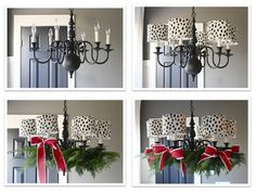 How To Decorate Your Chandelier For Christmas In Four Steps (Holiday Chandelier)