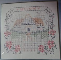 "Bucilla Welcome Cottage Colorpoint Paint Stitching Sampler Easy 14"" x 13"" Kids #Bucilla"