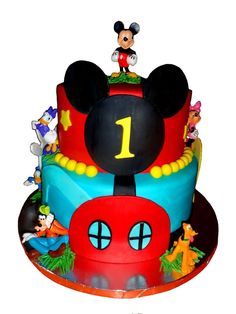 mickey mouse birthday cakes | Mickey Mouse Clubhouse 1st Birthday cake
