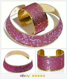 Pink Stardust Crystal Choker and Cuff Bracelet Set  50% OFF #ebay #christmasinjuly http://stores.ebay.com/JEWELRY-AND-GIFTS-BY-ALICE-AND-ANN