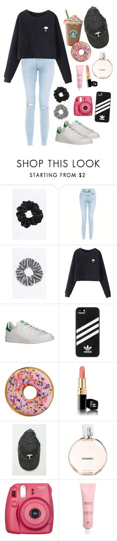 """""""Miss you spring"""" by nuriamoya ❤ liked on Polyvore featuring New Look, Chicnova Fashion, adidas, Chanel and Fujifilm"""