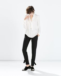 ZARA - COLLECTION SS15 - BLOUSE WITH BOW