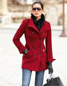Pea Coat with Cashmere