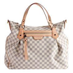 Louis Vuitton Damier Azur Evora GM Tote | Louis Vuitton Handbags | Bag Borrow or Steal