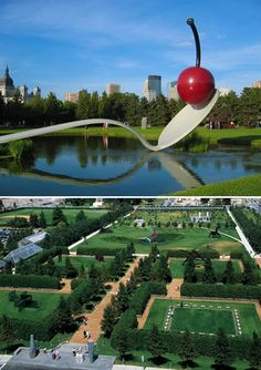 Minneapolis Sculpture Garden – MINNESOTA, US.  The Minneapolis Sculpture Garden is one of Minnesota's crown jewels and its centerpiece, the Spoonbridge and Cherry, has become a Minnesota icon.