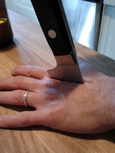 """""""""""Mom broke a knife and sent me this picture"""""""""""