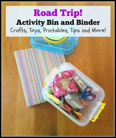 TRAVEL SANITY Road Trip Activity Bin and Binder crafts toys printables tips left brain craft brain Road Trip Activities, Toddler Activities, Activities For Kids, Car Games For Kids, Brain Craft, Family Road Trips, Road Trip Hacks, Toy Craft, Packing Tips For Travel