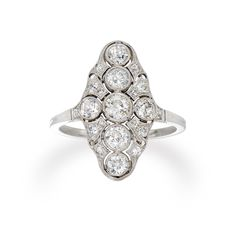 An Edwardian diamond panel ring - Bentley & Skinner