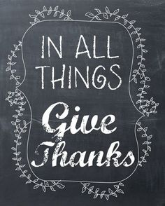 Free Chalkboard Give Thanks Printable