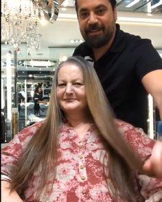 These Hair Transformations Are So Satisf - Hair Beauty Hair Cutting Techniques, Hair Color Techniques, White Hair Highlights, Medium Hair Styles, Curly Hair Styles, Grey Hair Transformation, Transition To Gray Hair, Great Hair, Hair Videos