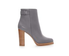 ZARA - WOMAN - LEATHER ANKLE BOOT WITH STRAP