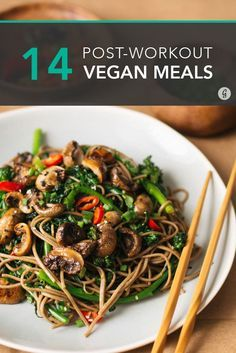 Soba noodles are way tastier (and more filling) than a protein shake #vegan #postworkout #recipes – More at http://www.GlobeTransformer.org