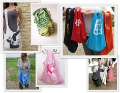 DIY Tshirt bags - projects for enironment month