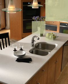 Modern Kitchen Quartz Countertops silestone, ivory coast, standard edge | kitchen | pinterest