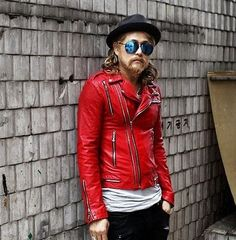 Red Zippered Jacket / High State Apparel