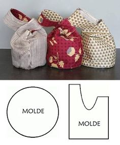 Instructions for spring bags - - essential oils - information and re . , Instructions for spring bags - - essential oils - information and re .- Instructions for spring bags - - essential oils - information and re… Instru. Fabric Crafts, Sewing Crafts, Sewing Projects, Bag Patterns To Sew, Sewing Patterns, Japanese Knot Bag, Japanese Bags, Japanese Sewing, Diy Sac