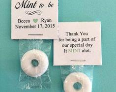 Wedding Mint Favors / Mint to Be / Burlap by 4AllOccasionFavors
