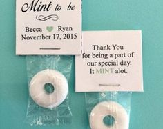 Mint to Be - Wedding Mint Favors- Burlap and Lace- Two Hearts, Bridal Shower or…