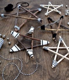 Rustic and modern twig star ornaments