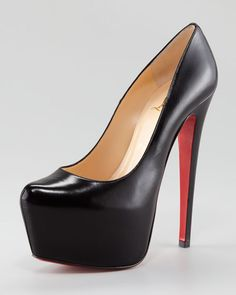 Christian Louboutin - Daffodil Leather Platform Red Sole Pump