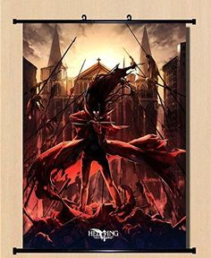 Home Decor Anime Hellsing Alucard Seras__Victoria Integral Scroll Poster 23.6x31.5 Inches -037 ^^ Additional details found at the image link  : DIY : Do It Yourself Today