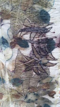 Eco print on cotton - Cherie Livni