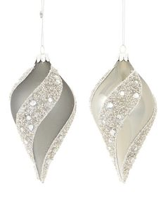 Another great find on #zulily! Bead & Swirl Finial Ornament Set #zulilyfinds