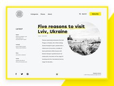 """Hi guys!    New shot is ready and this time it features a web interface. Here's the design concept for a website which presents the online magazine """"The Big Landscape"""". Its target audience is primari..."""