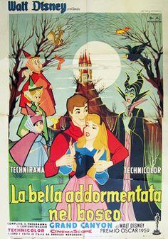 La bella addormentata, prima edizione italiana, distr. Rome Int. Film 1959, 4 fogli (140x200 cm.).