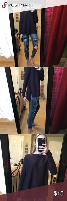 Light Eggplant Sweater lightweight eggplant color sweater. works great with leggings! great condition! Old Navy Sweaters Crew & Scoop Necks