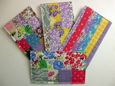 Love this idea, #patchwork cards. These will make any quilt gal smile.