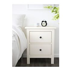 IKEA - HEMNES, Chest of 2 drawers, white, The drawer insert is perfect for small things. Smooth running drawers with pull-out stop. Can also be used as a bedside table. The drawer holds about 5 pairs of folded trousers or 10 T-shirts. Unique Furniture, Bedroom Furniture, Bedroom Decor, Bedroom Ideas, Master Bedroom, Furniture Ideas, Furniture Design, Funky Furniture, Plywood Furniture
