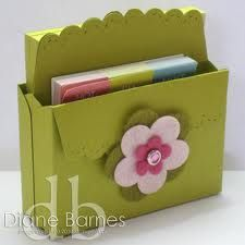 A double scallop envelope box You can purchase these items at my website http://srussell.stampinup.net