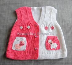 This Pin was discovered by emi Crochet Baby Dress Pattern, Crochet Bebe, Baby Girl Patterns, Baby Knitting Patterns, Knitting For Kids, Knitted Hats, Wool, How To Wear, Fashion
