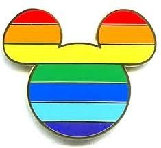 I'm obsessed with pin trading. This is the only pin I won't trade. #gay #disney