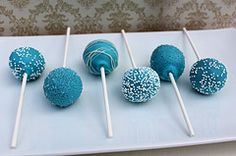 Pix For > Blue Wedding Cake Pops
