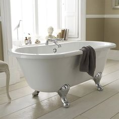 Grosvenor 1500mm Double Ended Free Standing Bath with Chrome Leg Set