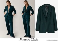Massimo Dutti wool suit Rockstud Pumps, Valentino Rockstud, Queen Margrethe Ii, Princesa Mary, Green Suit, Danish Royal Family, Crown Princess Mary, Wool Suit, Leather Pumps