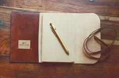 Moleskine Cahier Leather Cover Woodlander