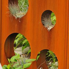 Barree Corten garden fence (Corten) with holes by ABK Outdoor