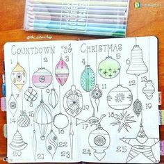 Holly Jolly Christmas Bullet Journal Ideas