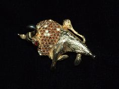 Vintage 80s unsigned  figural Toro brooch  by RetroRecyclables, $25.00