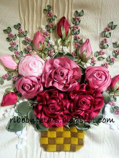 beautiful ribbon embroidery!
