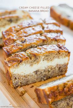 Cream Cheese-Filled Banana Bread | Best Recipes On The Web
