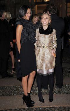 Zoe Saldana  and Franca Sozzani